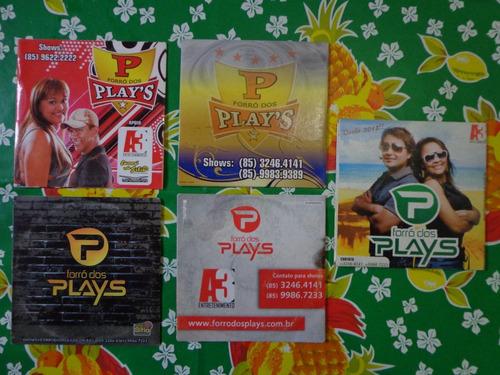 cd forró dos plays - lote 5 cds - coleção - frete grátis