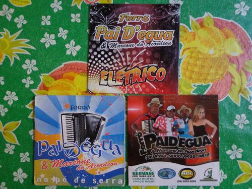 cd forró paidégua - lote 3 cds - promocional - frete gratis