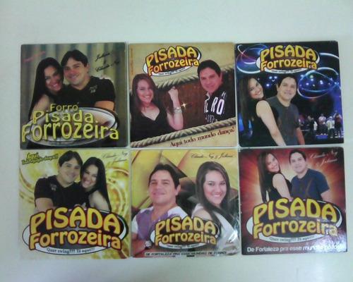 cd forró pisada forrozeira - lote com 6 cds - promo