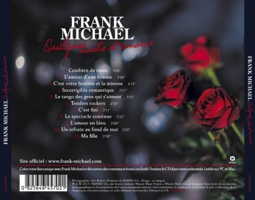 Cd Frank Michael Quelques Mots Damour Cd