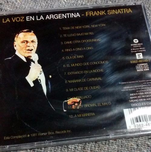 cd frank sinatra la voz en la argentina 1981-impecable!