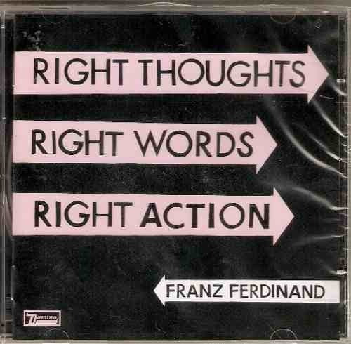 cd franz ferdinand - right thoughts / right words (lacrado)