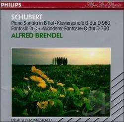 cd franz schubert - piano sonata d 960, wanderer fantasy