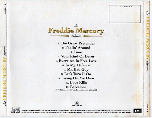 cd freddie mercury - the album - cd original