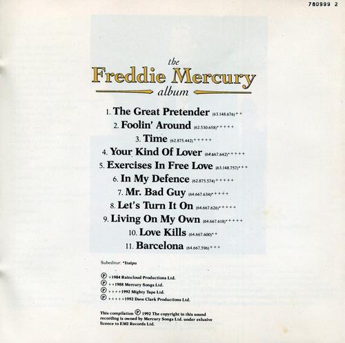 cd freddie mercury - the freddie mercury album