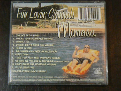 cd fun lovin´criminals mimosa año 1999 i´m not in love crazy