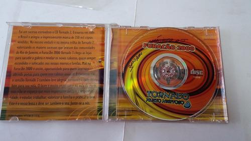 cd furacão 2000 - tornado muito nervoso 3 cd com avárias