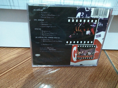 cd - g3 live in concert - satriani / johnson / vai - lacrado