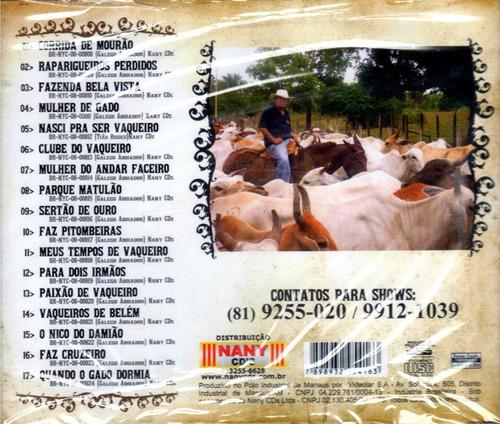 cd galego aboiador paixão de vaqueiro original + frete gráti
