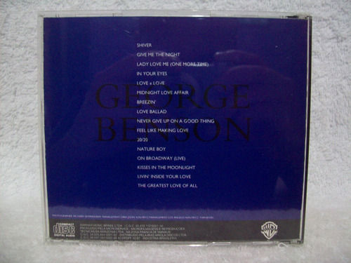 cd george benson - midnight moods : the love collection