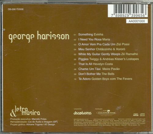 cd george harrison por: - 2008 - letra & música - 1ª edição