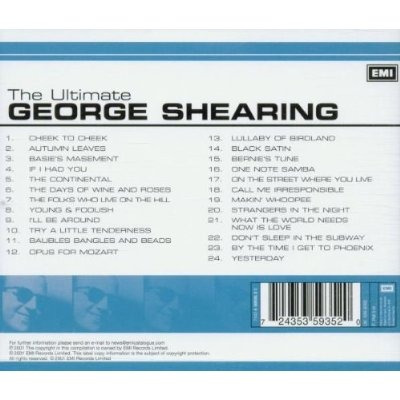 cd george shearing -the ultimate george shearing (24 tracks)
