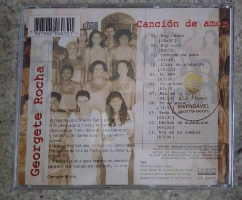 cd georgete rocha - cancion de amor raridade fotos reais