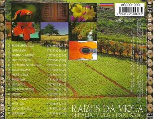 cd geraldo viola & pantanal - b278