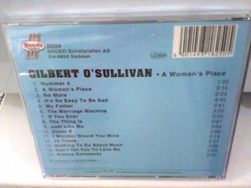 cd gilbert sullivan / a woman´s place lacrado (frete grátis)
