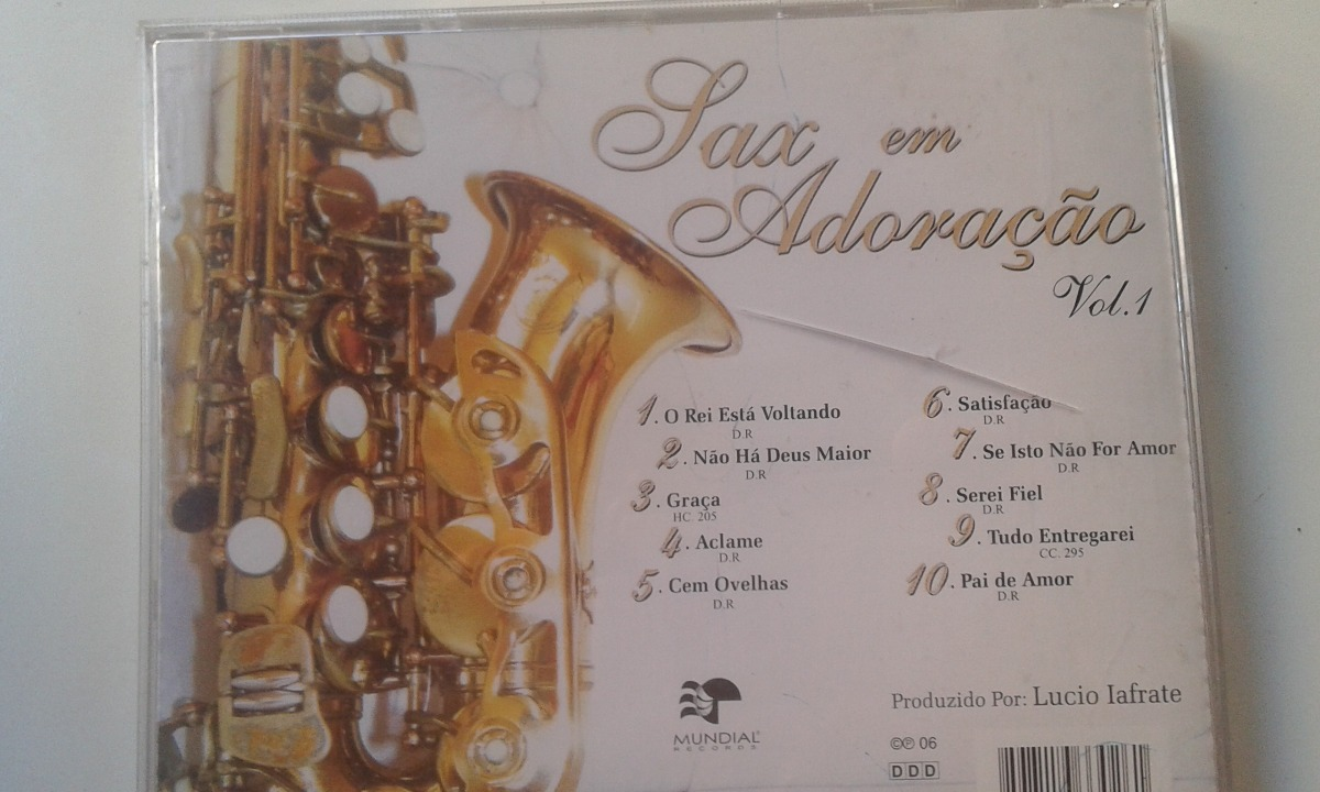 Cd Gospel - Sax Em Adoração - Instrumental - Vol 1