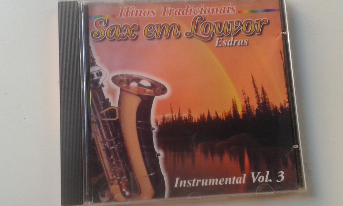 Cd Gospel Sax Em Louvor Esdras Instrumental Vol 3 Hinos Trad