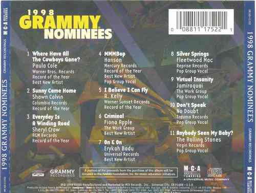 cd grammy nominees 1998