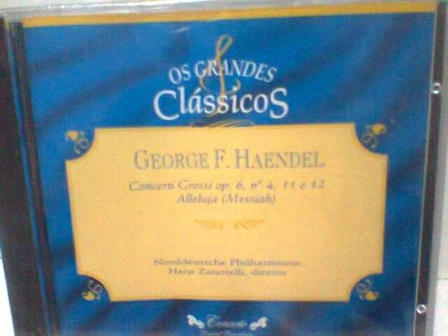 cd grandes clássicos @ george haendel -lacrado- frete grátis