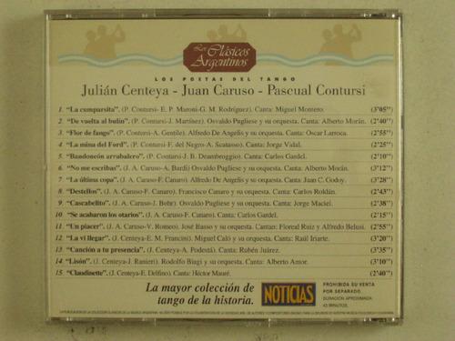 cd grandes poetas del tango vol 9 centeya caruso en la pla