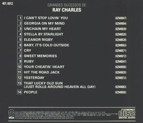 cd grandes sucessos de ray charles
