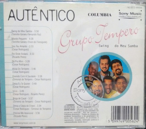 cd grupo tempero - swing do meu samba