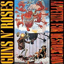 cd guns n' roses*/  appetite for destruction