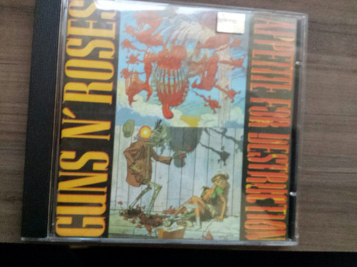 cd guns n'roses - apetitte for destrution - novo