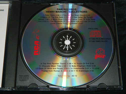 cd henry mancini collection