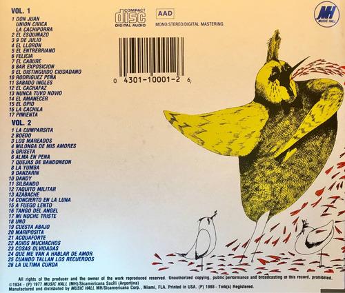 cd historia del tango 2cds made in usa ponzio roncallo bassi