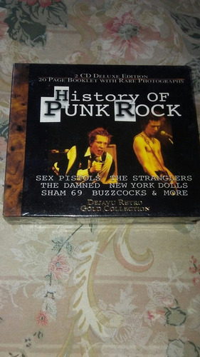 cd. history of punk rock. box deluxe doble. espectacular