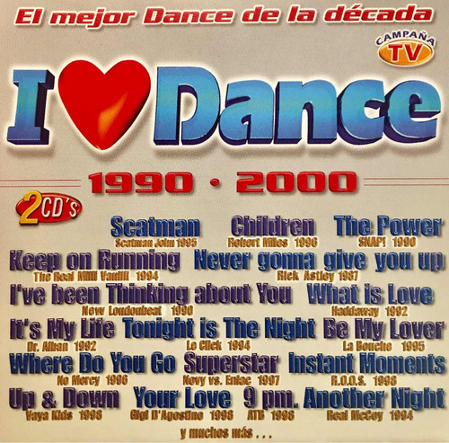 cd i love dance rick astley la bouche dralban vaya kids 2cds