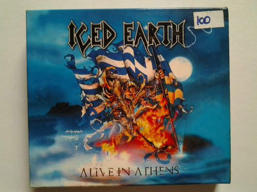cd iced earth - alive in athens digipack (alemão)