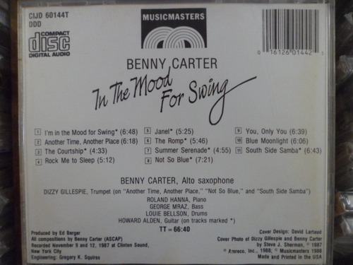 cd imp - benny carter - in the mood for swing frete 10,00