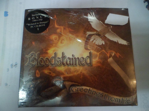 cd imp digip. - bloodstained - greetings from hell frete 10