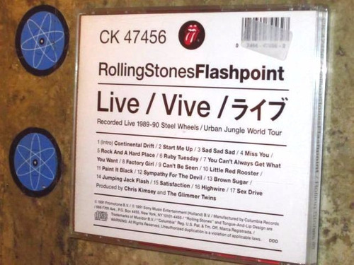 cd imp rolling stones - flashpoint (1991) c/ jagger richards