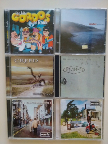 cd incubus, creed, def leppard, oasis