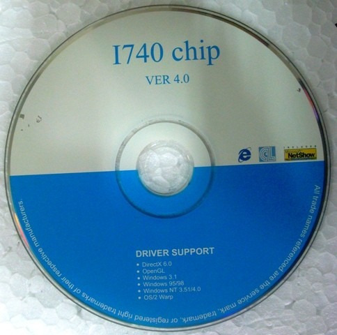 cd instalação do driver da placa de vídeo i740 chip