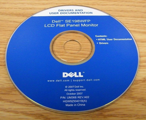 cd instalação monitor lcd flat panel dell e198wfp