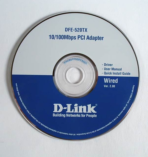 cd instalação placa dfe-520tx - d-link pci adapter
