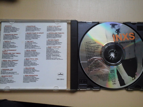 cd inxs the greatest hits excelente estado