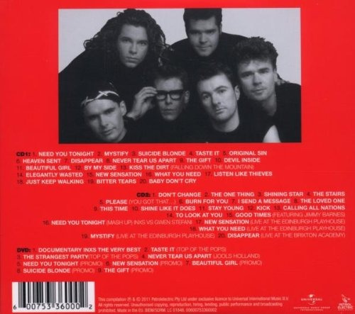 cd : inxs - very best (holland - import, ntsc f   ( oferta )