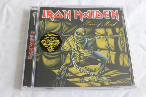 cd iron maiden piece of mind original