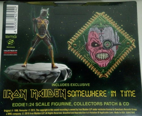 cd iron maiden somewhere in time ed.deluxe -importado 2019