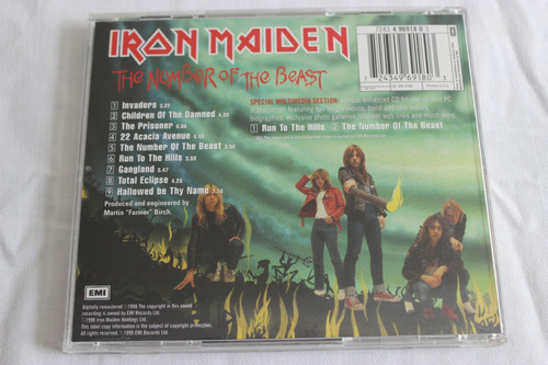 cd iron maiden the number of the beast original