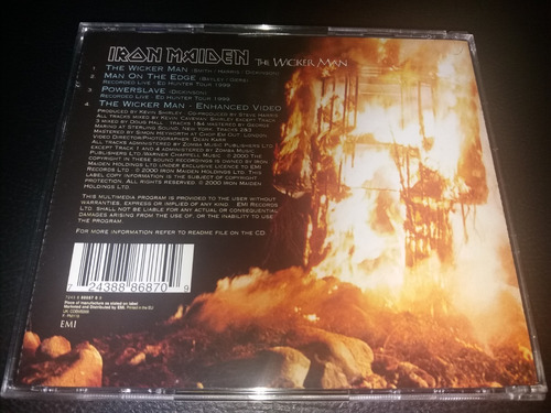 cd - iron maiden  -  the wicker man