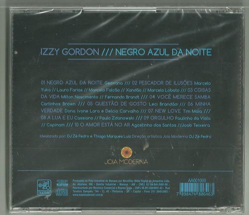 cd izzy gordon negro azul noite jóia moderna lacrado