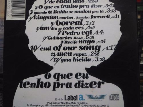 cd - izzy - o que tenho pra dizer