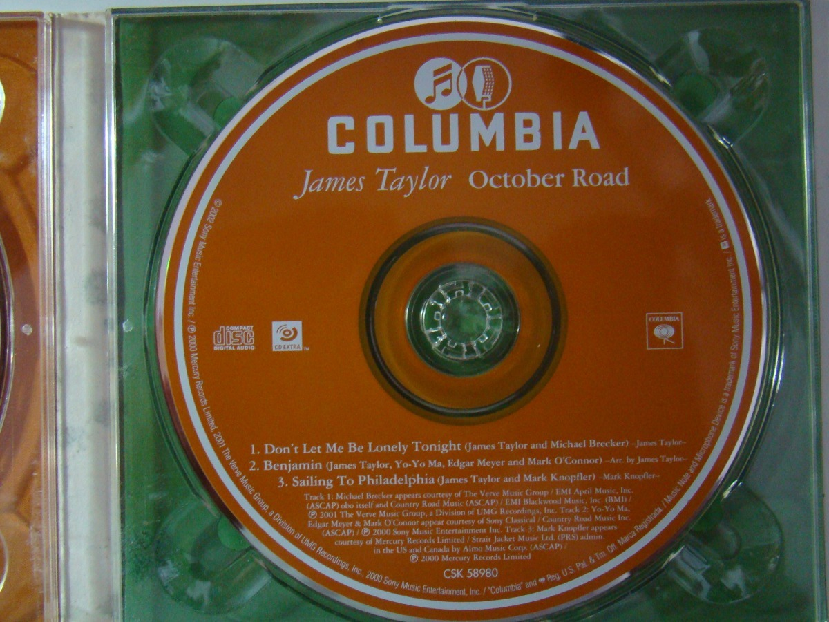Cd - James Taylor - October Road - Digipack - Duplo