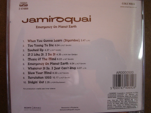 cd jamiroquai emergency on planet earth